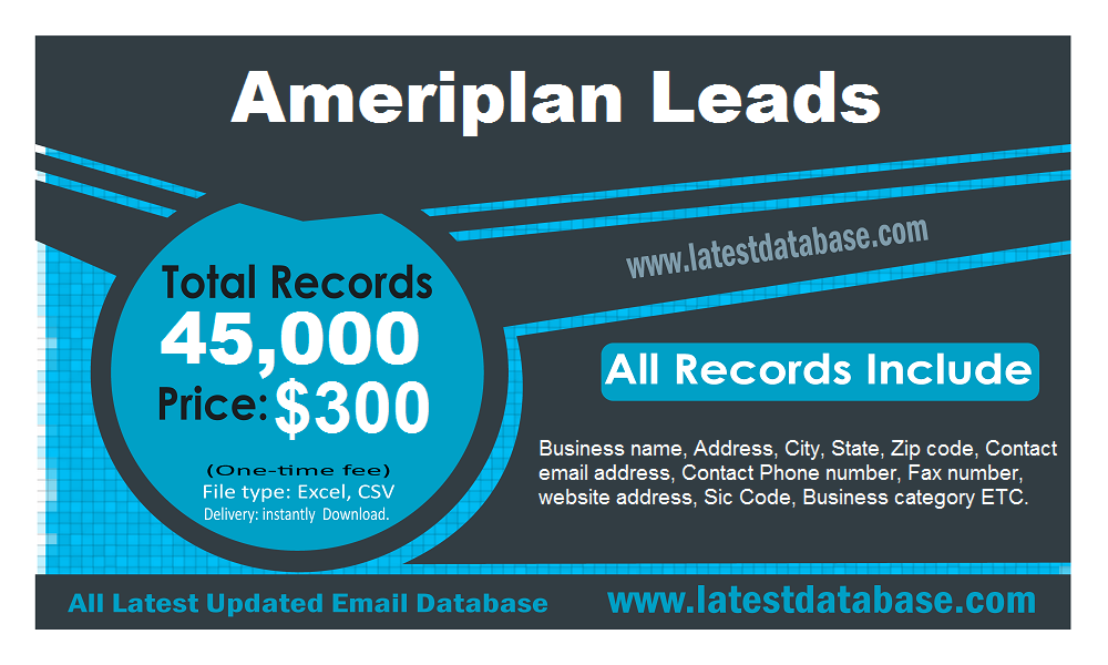 Ameriplan Email Leads